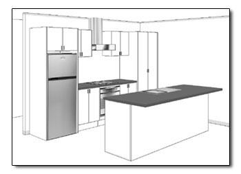 Galley kitchen layout drawings best home decoration for Corridor kitchen layout