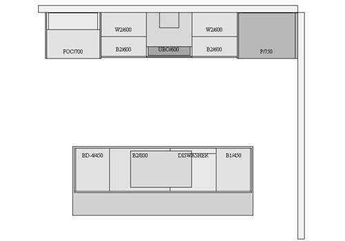 Kitchen Floor Plan Dimensionscorridor Kitchen Floor Plan Design