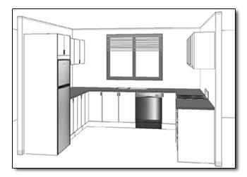 U Shaped Kitchen Plans these example kitchen plans will guide you in planning your kitchen